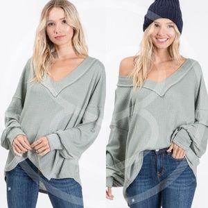 SAGE LOVE Thermal Knit top